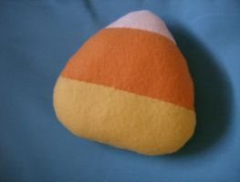 Plain Candy Corn Plushie by MythrilAngel
