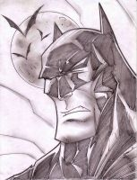 Batman Sketch Shot by StevenSanchez