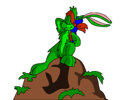Jazz Jackrabbit 2 - Cliff by atlasben