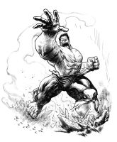 Red Hulk Commission by elena-casagrande
