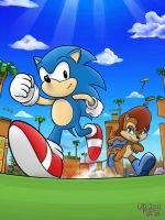 Race on Green Hill Zone by TheBourgyman