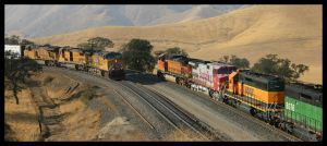 UP and BNSF Meet by photogatlarge