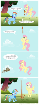 Fluttershy's squirrel by Gegenschein17