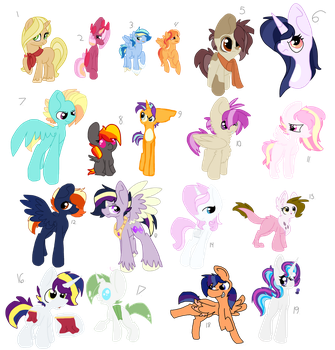 Old and Unused Shipping Adopts by spottedpool90