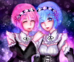 Ram and Rem- Re:Zero by Vhoii