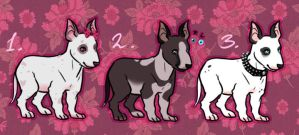 Bull terrier adoptables by CelesticAdopts