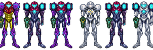 Metroid Prime Trilogy: Fusion New Suits by DBZ2010