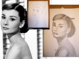 Audrey Hepburn progression by emceelokey