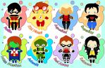 Young Justice Chibis by MidniteHearts