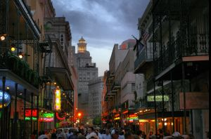 Bourbon Street, New Orleans by Roussis