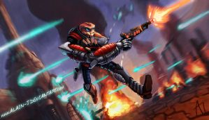The Alien Strong Arm of the Law in Action! by ALA1N-J