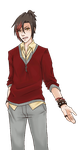 Yaoi Game Jam:Character Sprite Compilation [Jaden] by Red-Baby