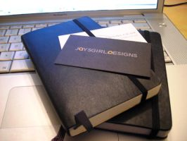 Moleskines and business cards by Jaysgirl17