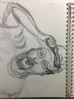 Selfportrait Rough Study2 by ldjessee