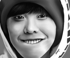 Kwon Ji Yong Digital Painting by krayolangputol