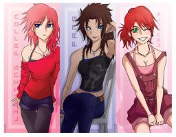 Ladies of FFXIII bookmark by AwkToast