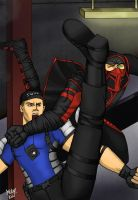 Ermac vs Stryker 1 by Grace-Zed