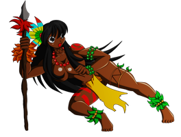 Amazonian native girl by Animewave-Neo