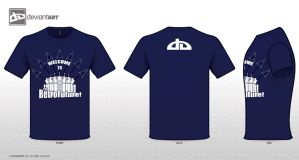 Welcome T-Shirt Design Blue by Xzal