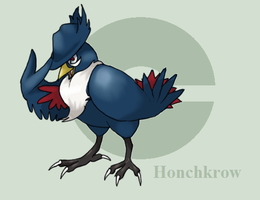 honchkrow by reaper-neko