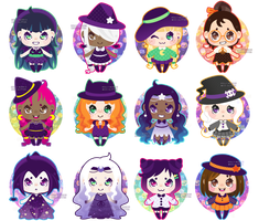 Witchy Adoptables [OPEN 02/12] by Miss-Glitter