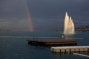 rainbow and the lac by mondkalbstock
