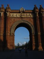 barcelona's triumph arch by S-L-J-Rabling