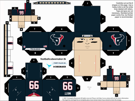JJ Watt Texans Cubee by etchings13