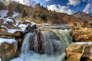 Japan nature. Rock and River by Shenanigans-in-Japan
