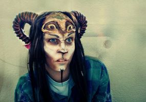 Faun face by Nincebo