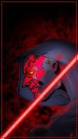 D is for Darth Maul by scribblebri