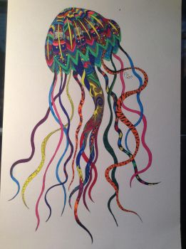 Zendoodle Jellyfish by NINJAWERETIGER