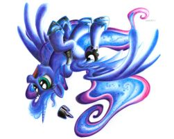 Luna XIV (Colored Pencil) by IIXxQwErTyxXII