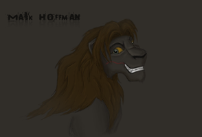 Mark Hoffman as lion by CynderxNero
