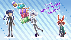 Happy birthday to Kanda Yuu by BlackMayo