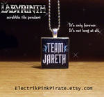 Team Jareth scrabble pendant by ElectrikPinkPirate
