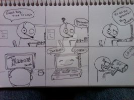 Anime comic strips 4 by DamCee