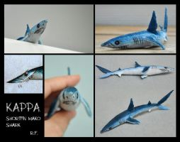 Kappa the Shortfin Mako Shark - Soft Toy by Skia