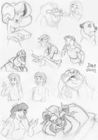 Disney Sketches by JonathanEdward