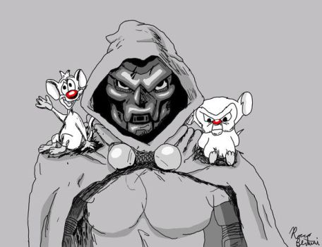 Pinky, Dr. Doom, and The Brain by RoccoBertucci
