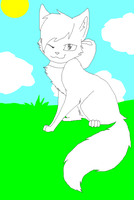 free Kitty Lineart by PI0SON