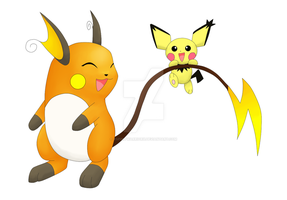 Pichu and Raichu WIP by XSpiritWarriorX