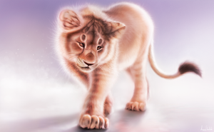 Lion Cub by Angrycheetah
