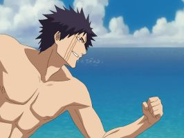 Hisagi Shuuhei on the beach. by Arcee-chan