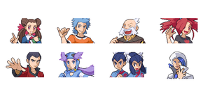 hoenn gym leader mugshots by chemicalzone97