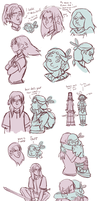 RC - Kal and Zukari doodles by eyesandfingers