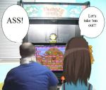 Danny and Haruhi at the arcade by Deven247