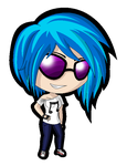 MLP Chibi: Vinyl Scratch (Glasses) by ZantyARZ