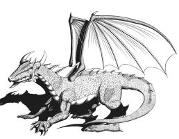Dragon (Inked) by Arekage