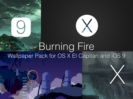 Burning Fire - OS X and iOS Wallpapers by ubunturox104